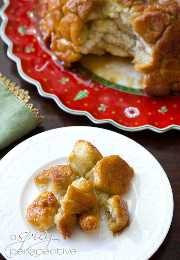 Monkey Bread Recipe | ASpicyPerspective.com #recipe #holidays #monkeykbread