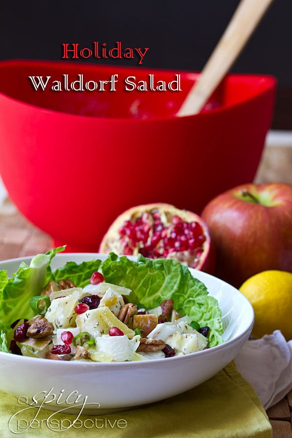 Holiday Waldorf Salad | ASpicyPerspective.com #recipe #healthy #holidays
