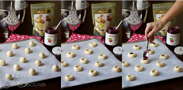 Thumbprint Cookies | ASpicyPerspective.com #cookies #cookieexchange #christmascookies