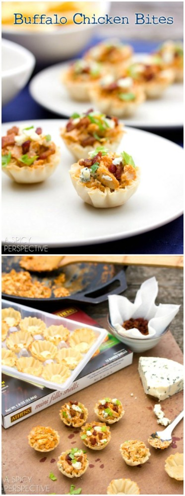 Easy Buffalo Chicken Bites! All the flavor of Chicken Wings - with clean fingers!