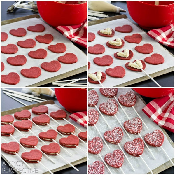 Making Red Velvet Cookie Pops for #ValentinesDay + Free Printable Tags!