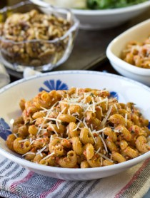Roasted Red Pepper Pesto Pasta Recipe | ASpicyPerspective.com