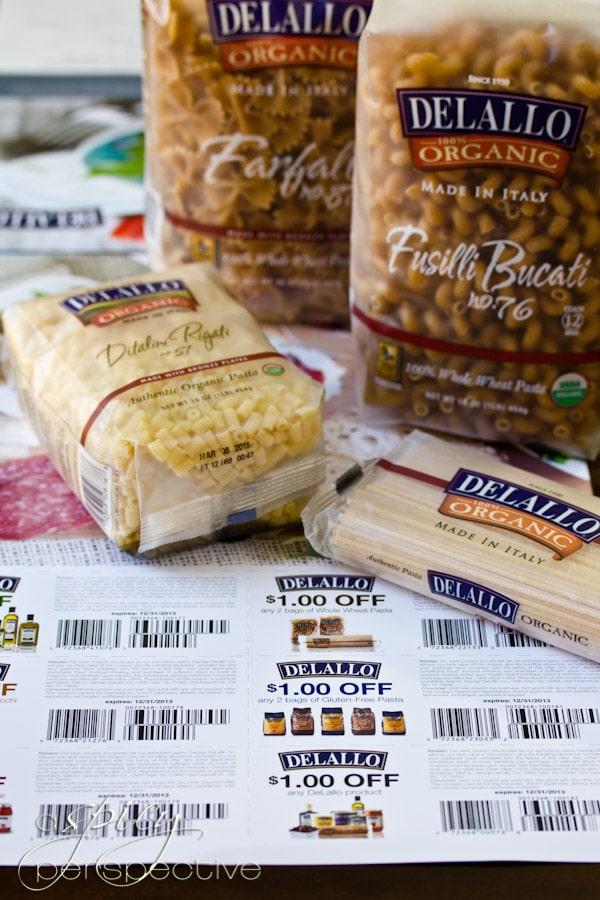 DeLallo Pasta and Calendar