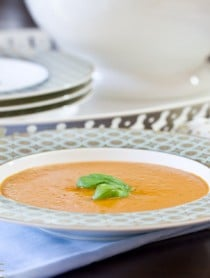 Healthy Tomato Bisque | A Spicy Perspective #healthy #soup
