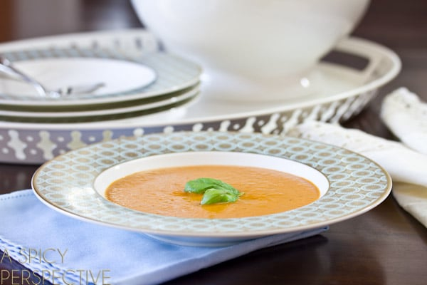 Healthy Tomato Bisque   A Spicy Perspective #healthy #soup