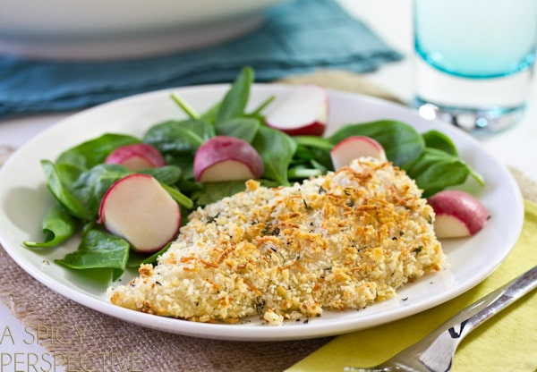 Crispy Baked Chicken Cutlets   A Spicy Perspective #healthy #chicken #recipe