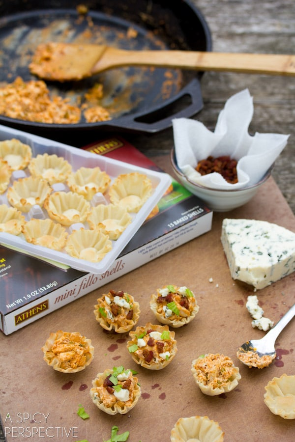 How to Make Buffalo Chicken Bites | A Spicy Perspective #superbowl #gameday #partysnacks