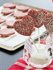 Red Velvet Cookie Pops