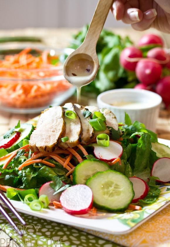 Fresh and Easy Vietnamese Banh Mi Salad on ASpicyPerspective.com #vietnamese #salad