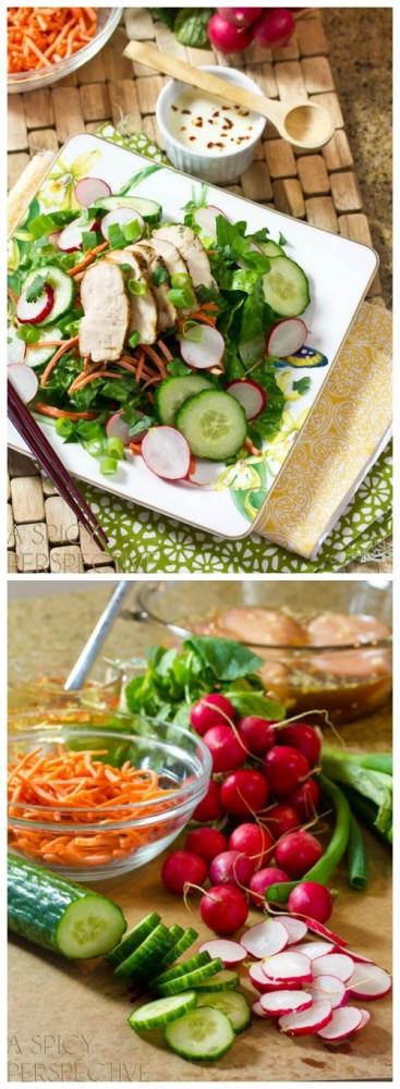 Fresh and Zesty Vietnamese Banh Mi Salad on ASpicyPerspective.com #vietnamese #salad