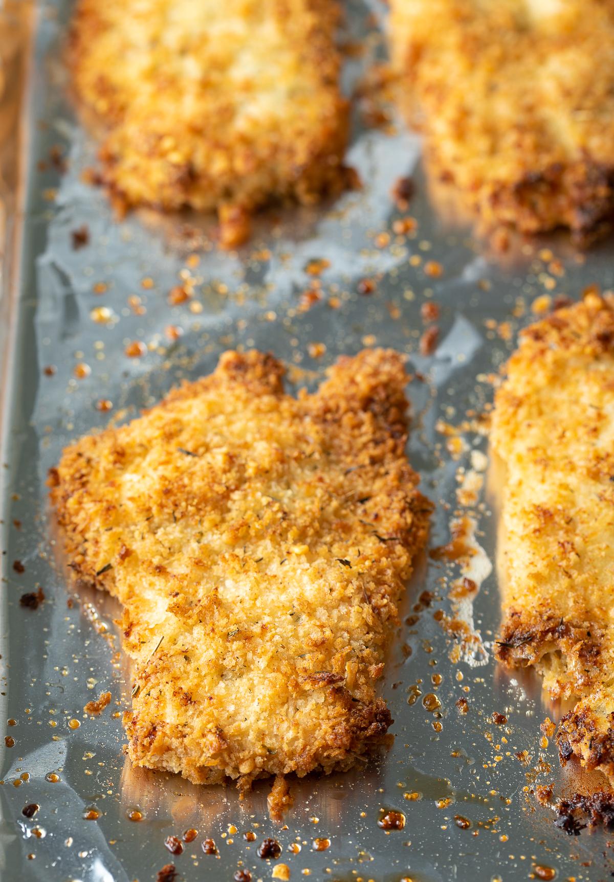 "Healthy ""Fried"" Chicken (AKA Crispy Baked Chicken) | A Spicy Perspective #chicken #healthy #recipe"