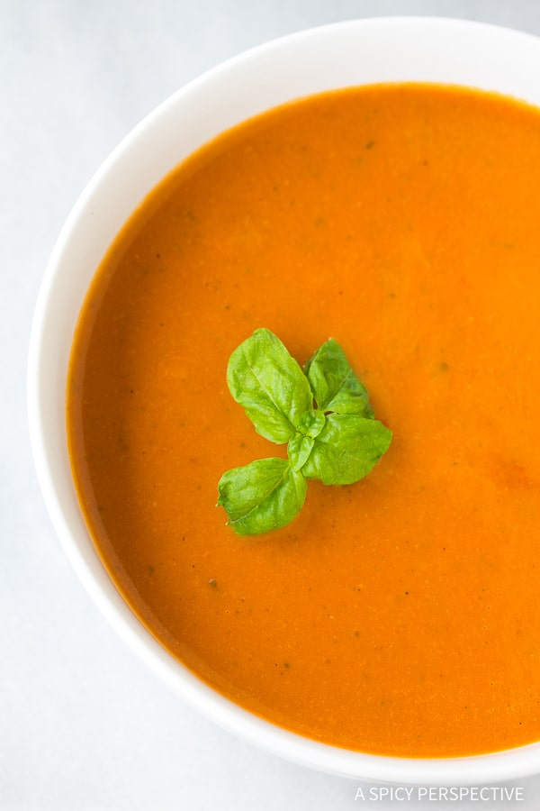 Healthy Tomato Basil Bisque A Spicy Perspective