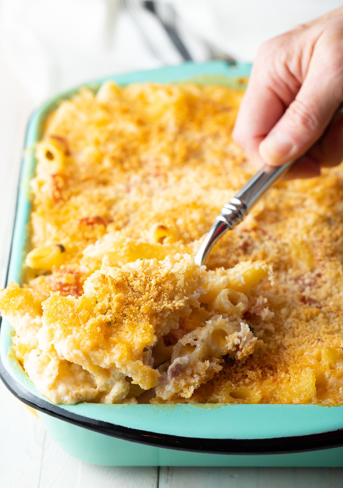 Italian Homemade Baked Mac and Cheese Recipe