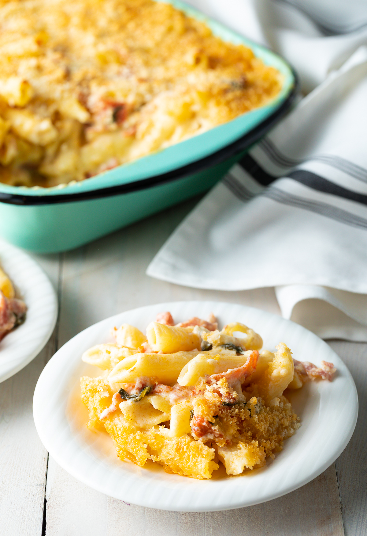 Italian Baked Mac and Cheese Recipe | ASpicyPerspective.com #macandcheese #pasta #delallo