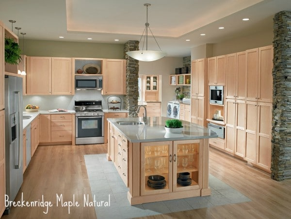 natural maple cabinets wall color shenandoah cabinetry