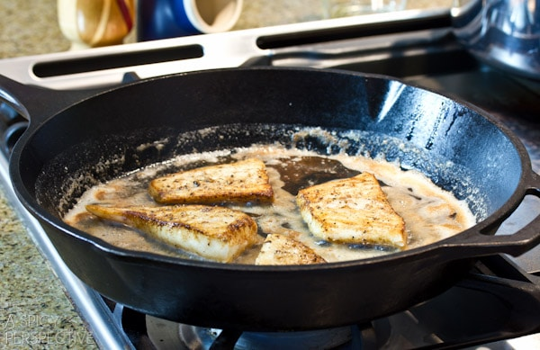 Frying Brown Butter Seared Halibut