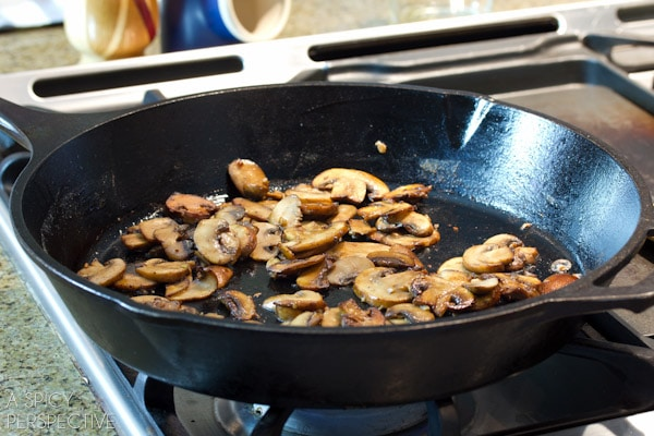 Sherry Sauted Mushrooms
