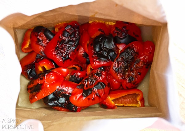 Oven Roasted Red Peppers | ASpicyPerspective.com #howto #diy #redpeppers