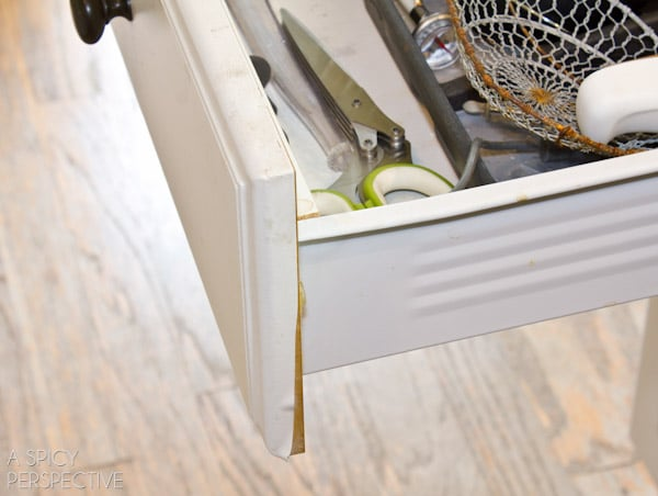 peeling drawers