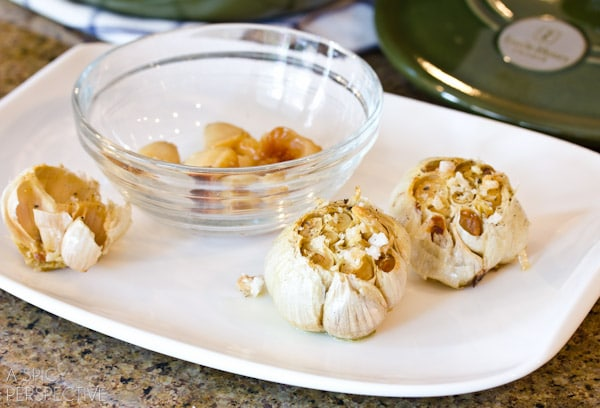 Oven Roasted Garlic | ASpicyPerspective.com #howto #diy #garlic