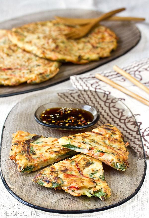 Easy Crispy Veggie Korean Pancake Recipe: Pajeon