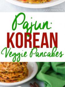 The Best Korean Pancakes - Pajun (Pajeon) Recipe #vegetarian