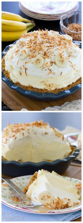 Decadent Fluffy Banana Cream Pie Recipe #creampie