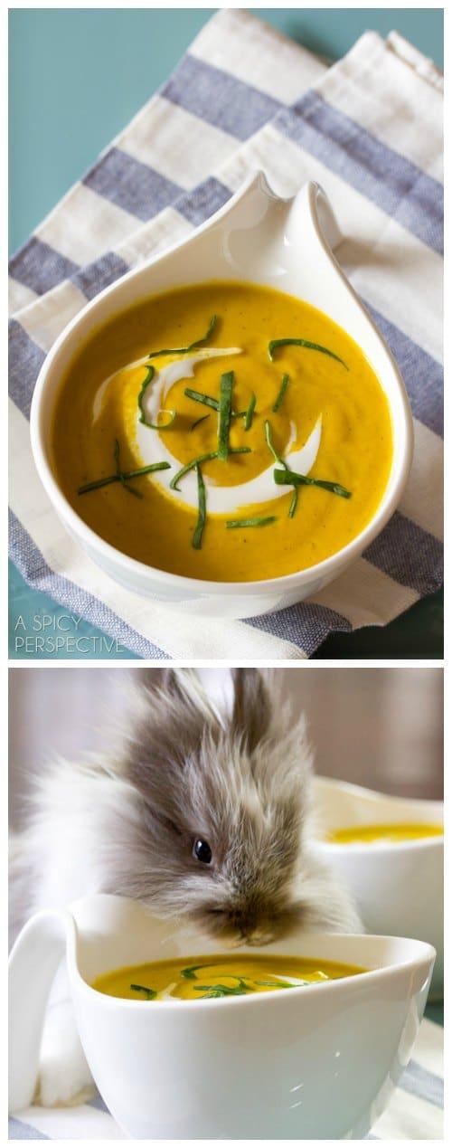 Creamy Carrot Soup Recipe #spring