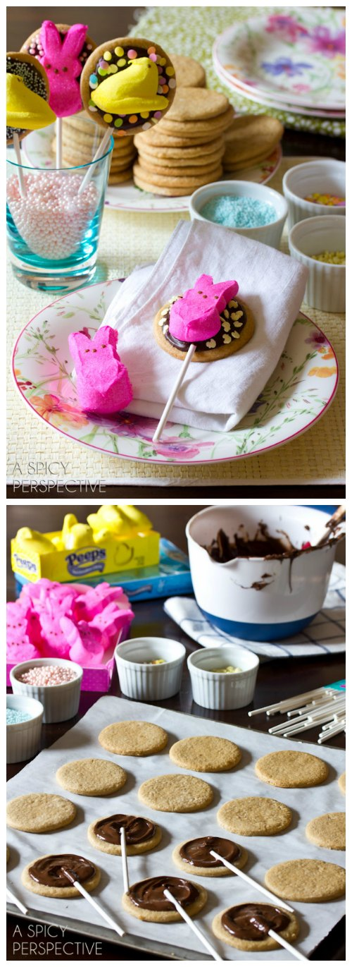 Easy Easter S'mores Cookies (Pops!) #easter #kids