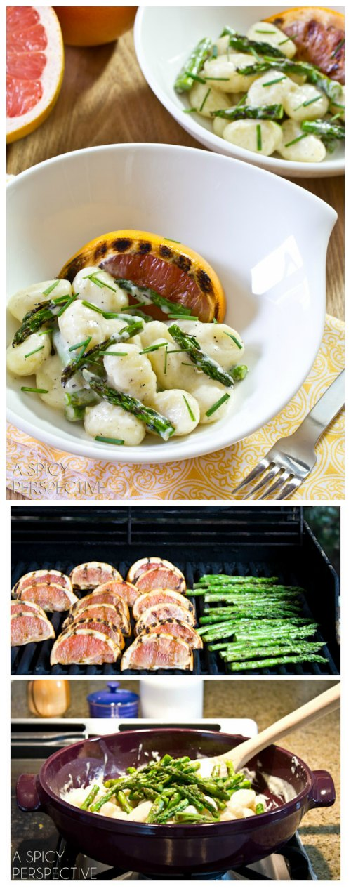 Gnocchi Recipe with Grilled Asparagus! #spring #gnocchi