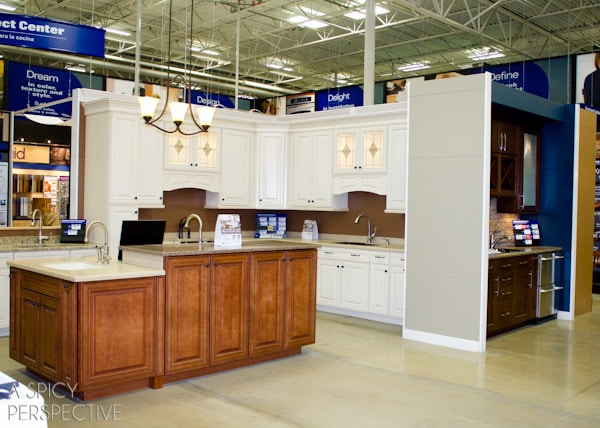 They also have shenandoah cabinetry mock kitchens on display so you