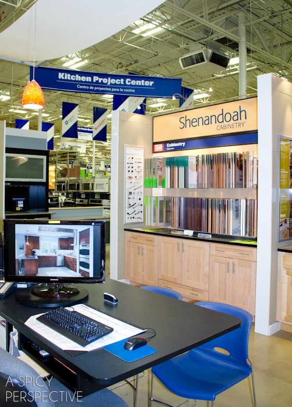 You will find a large display of shenandoah cabinetry samples with all