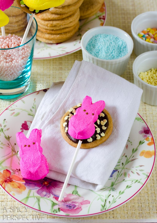 Easter S'mores Cookies (Pops!) #easter #cookies #smores #spring