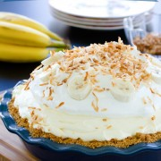 Banana Cream Pie Recipe | ASpicyPerspective.com #pie #banana #easydessert