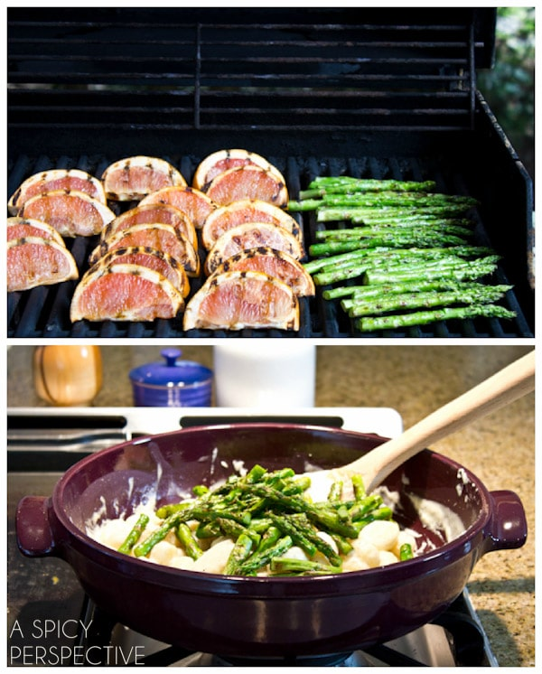 Grilled Grapefruit and Grilled Asparagus