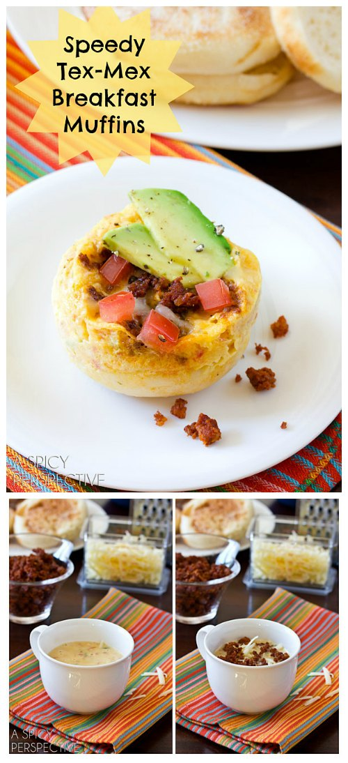 Healthy Tex Mex Breakfast Muffins (Egg Muffin!) #breakfast