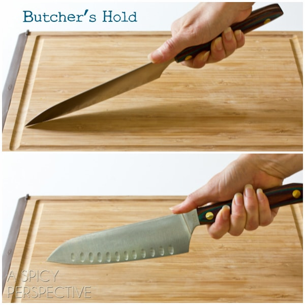 Grip: Knife Skills 101 on ASpicyPerspective.com #howto #knives #cookingtips