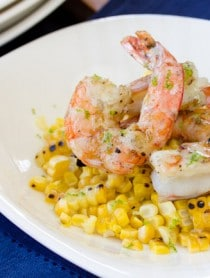 Easy Grilled Shrimp and Corn with Creamy Lime Vinaigrette | ASpicyperspective.com #corn #shrimp #healthyrecipe #lime
