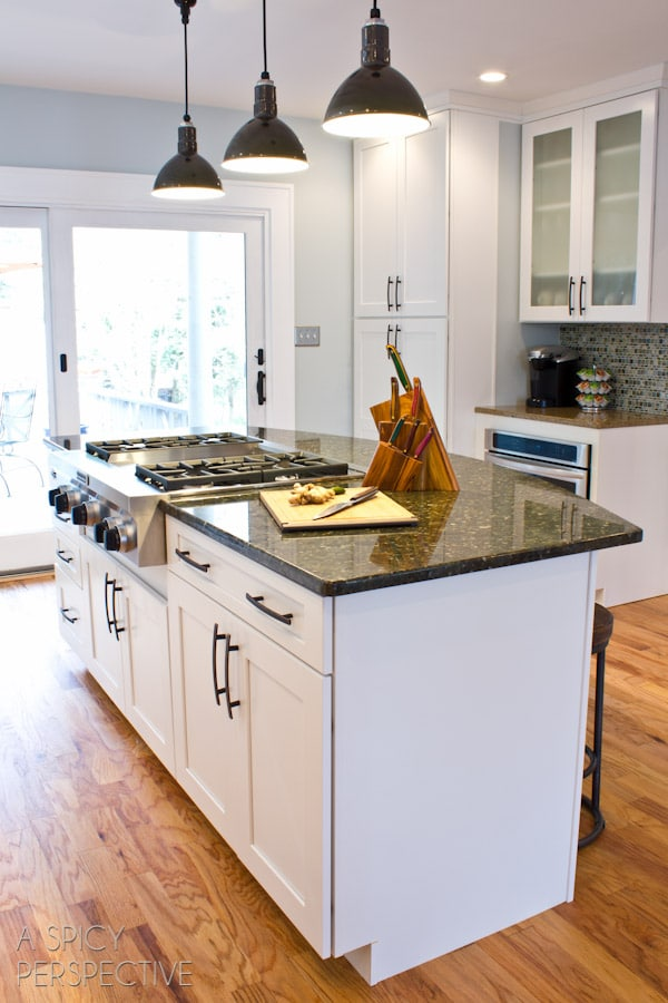 ASpicyPerspective.com Kitchen Makeover Reveal! #diy #homeimprovement #remodel