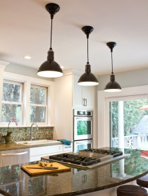 Barn Light Electric LED Pendants on ASpicyPerspective.com #remodel #barnlights #home