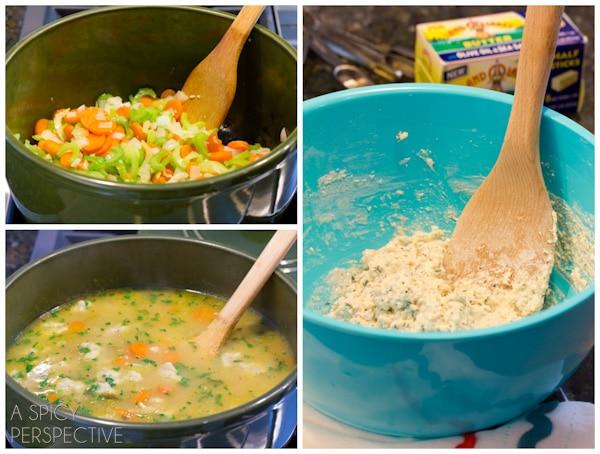 How to: Chicken N Dumplings Soup Recipe | ASpicyPerspective.com #soup ...