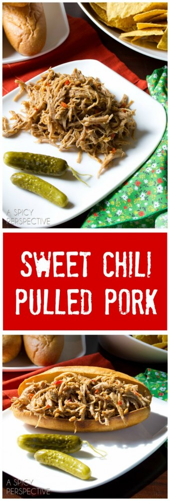 The BEST Sweet Chili Pulled Pork Recipe #pork