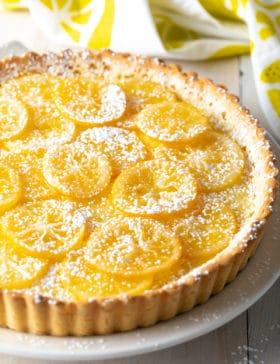 Perky Lemon Tart Recipe #ASpicyPerspective #lemon #spring #tart #pie #easter #mothersday