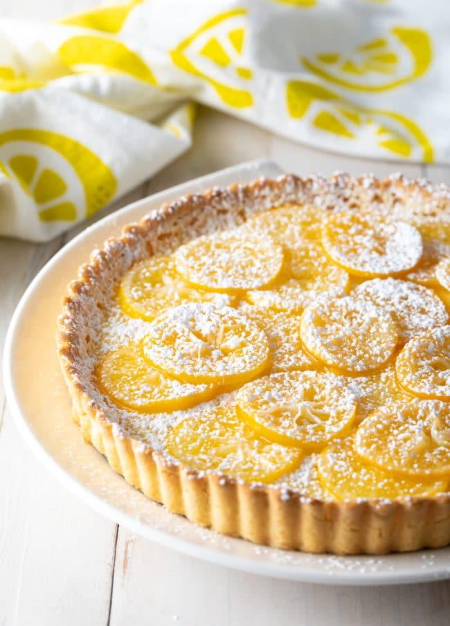 Easy Meyer Lemon Tart Recipe #ASpicyPerspective #lemon #tart #pie #spring #summer #holiday #easter #mothersday
