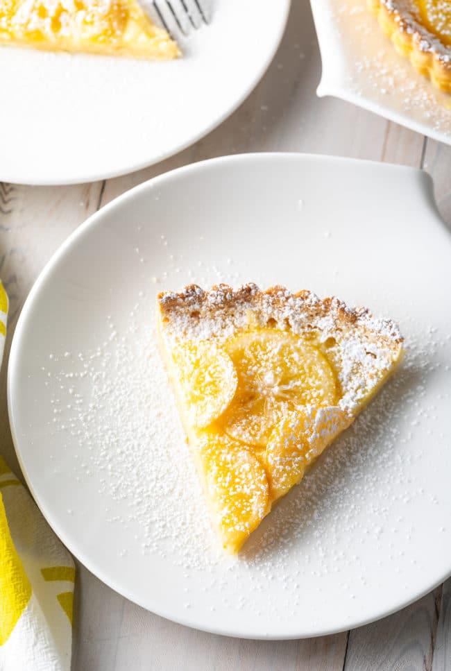 Best Ever Lemon Tart Recipe #ASpicyPerspective #lemon #spring #tart #pie #easter #mothersday