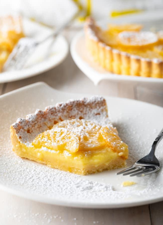Perfect Lemon Tart Recipe Ever #ASpicyPerspective #lemon #tart #pie #spring #summer #holiday #easter #mothersday