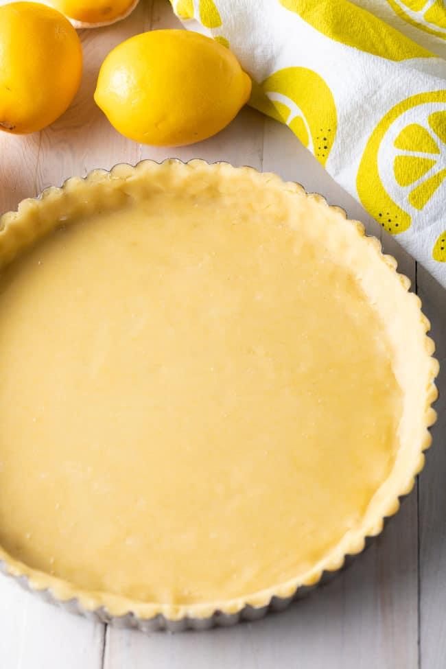 Spring Lemon Tart Recipe #ASpicyPerspective #lemon #spring #tart #pie #easter #mothersday