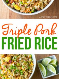 Hawaiian Triple Pork Fried Rice Recipe