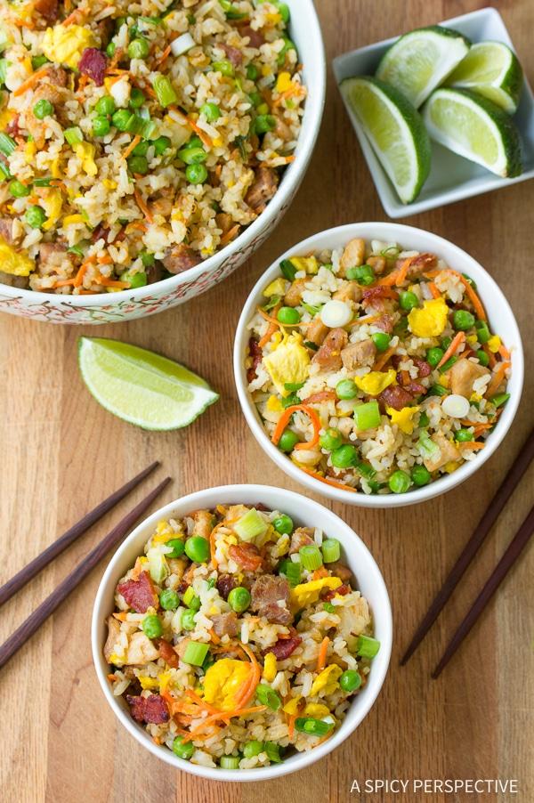 Best Hawaiian Triple Pork Fried Rice Recipe