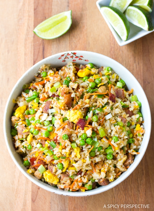 triple pork fried rice a spicy perspective